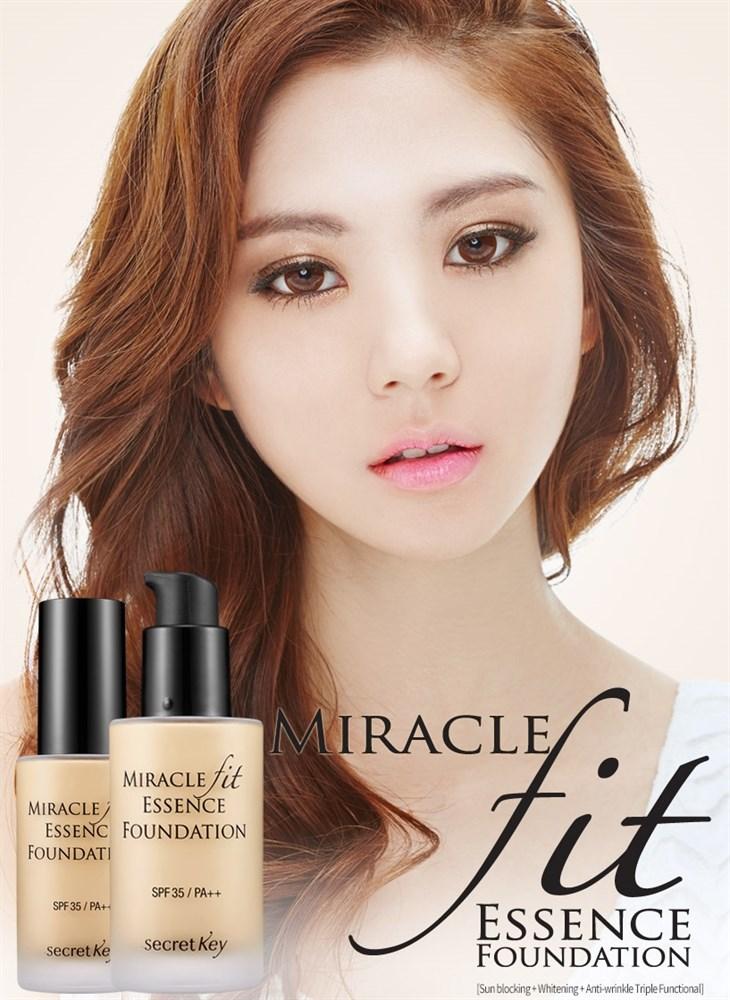Тональная основа жидкая Secret Key Miracle Fit Essence Foundation_Light Beige(21) 30мл - фото 10128