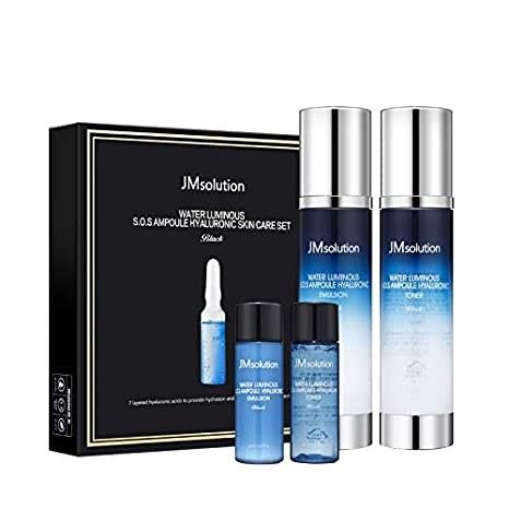 Ультраувлажняющий набор средств JM solution Water Luminous SOS Ampoule Hyaluronic Skin Care Set [Black] - фото 12233
