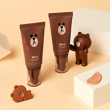 BB крем MISSHA Perfect Cover BB Cream 50ml (Line Friends Edition) - фото 8775