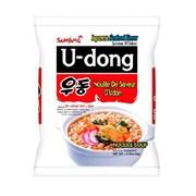 "Лапша Самянг ""U-dong"" со вкусом морепродуктов 120гр (мягк.уп)"