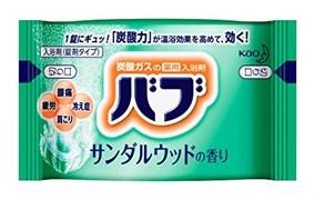 Соль для ванны в таблетках Kao Bub Peaceful Herbs аромат Green Oasis 40 гр
