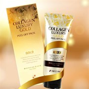 Золотая омолаживающая маска-плёнка 3W Clinic Collagen Luxury Gold Peel Off Pack 100g