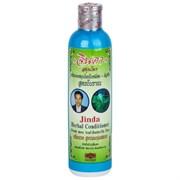 Лечебный тайский кондиционер для роста и против выпадения волос с синим чаем Jinda Herbal Conditioner Fresh mee leaf + Butterfly Pea 250 мл