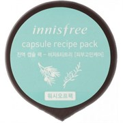 Капсульная смываемая маска Innisfree Capsule Recipe Pack # Bija&Tea Tree - Wash Off Pack
