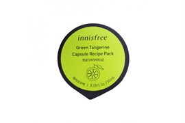 Смываемая капсульная маска с зеленым мандарином Innisfree Capsule Recipe Pack #Green Tangerine - Wash Off Pack