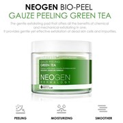 Увлажняющие пилинг-диски с зеленым чаем NEOGEN Dermalogy Bio-Peel Gauze Peeling Green Tea (30pads)