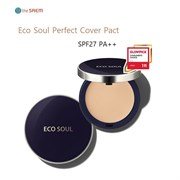 Пудра компактная The Saem Eco Soul Perfect Cover Pact 21 Light Beige