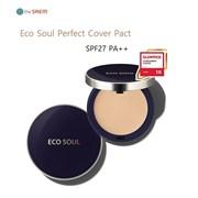 Пудра компактная The Saem Eco Soul Perfect Cover Pact 23 Natural Beige 11гр