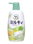 """Молочное увлажняющее жидкое мыло д/тела с цитрус. ар. COW """"Milky Body Soap""""(дозатор)  550мл"""