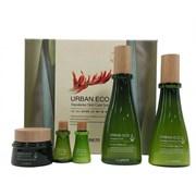 Набор уходовый с экстрактом новозеландского льна The Saem Urban Eco Harakeke Skin Care 3 Set (Toner, Emulsion, Cream) 180мл/140мл/20мл/20мл/60мл