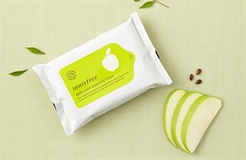 Очищающие салфетки с экстрактом семян яблока Innisfree Apple Seed cleansing tissue