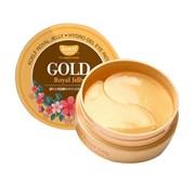 Патчи для глаз с лифтинг-эффектом на основе золота и маточного молочка PETITFEE KOELF Gold & Royal Jelly Eye Patch (60 шт)