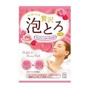 Ароматическая пенящаяся соль для ванны с коллагеном и гиалуроновой кислотой COW «Роскошная роза» 30гр