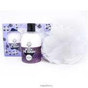 Набор мочалка и гель-масло для душа (фиолетовый) Village 11 Factory Relax-day Body Oil Wash Violet Set 300мл