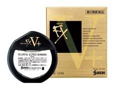 Капли для глаз (витамин B6 и таурин) от усталости глаз Santen Pharmaceutical Sante FX V Plus