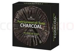 Мыло туал. твердое «Mukunghwa» из 100% масла кокоса с древ. углем, глубокоочищ. 100 гр