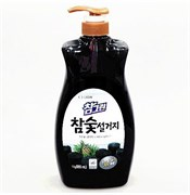 Средство для мытья посуды, овощей и фруктов CJ LION Древесный уголь (флакон-дозатор) 1000мл