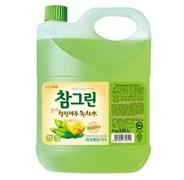 Средство для посуды, фруктов, овощей - Зеленый чай CJ Lion Chamgreen  канистра, 4000 гр