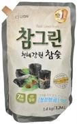 Средство для посуды, фруктов, овощей Древесный Уголь Chamgreen, CJ LION сменная упаковка 1350 мл