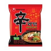 "Лапша НОНГШИМ ""Shin Ramyun"" острая вкусом говядины, 120гр (мягк.уп)"
