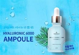 Увлажняющая ампульная сыворотка с гиалуроновой кислотой The Skin House Hyaluronic 6000 Ampoule 30ml