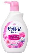 Гель д/душа KAO BIORE U Smile Time легкий аромат розы, бут-дозатор 480мл