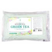 Альгинатная маска для чувствительной, проблемной кожи Anskin Green Tea Modeling mask refill 240g (пакет)