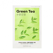 Тканевая маска для лица с зеленым чаем MISSHA Airy Fit Sheet Mask [Green Tea]