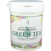 Альгинатная маска для чувствительной, проблемной кожи Anskin Green Tea Modeling mask 700ml (банка)